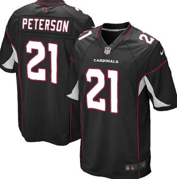 Nike Arizona Cardinals #21 Patrick Peterson Black Game Jersey