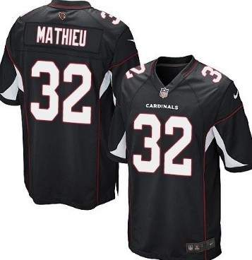 Nike Arizona Cardinals #32 Tyrann Mathieu Black Game Jersey