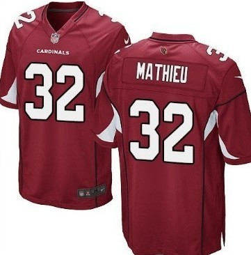 Nike Arizona Cardinals #32 Tyrann Mathieu Red Game Jersey