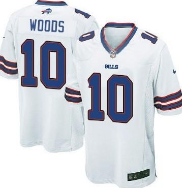 Nike Buffalo Bills #10 Robert Woods 2013 White Game Jersey