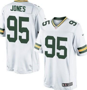 Nike Green Bay Packers #95 Datone Jones White Game Jersey