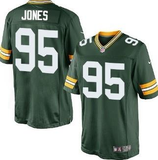 Nike Green Bay Packers #95 Datone Jones Green Game Jersey