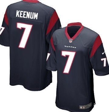 Nike Houston Texans #7 Case Keenum Blue Game Jersey