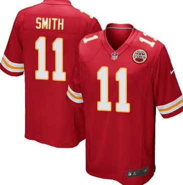 Nike Kansas City Chiefs #11 Alex Smith Red Game Jersey