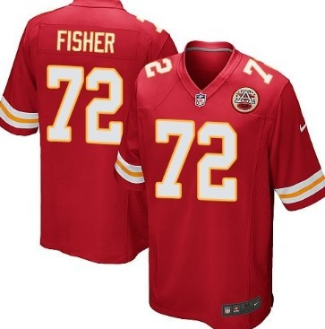 Nike Kansas City Chiefs #72 Eric Fisher Red Game Jersey