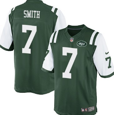 Nike New York Jets #7 Geno Smith Green Game Jersey