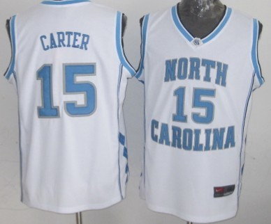 North Carolina Tar Heels #15 Vince Carter White Authentic Jersey