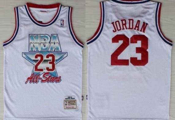 NBA 1992-1993 All-Star #23 Michael Jordan White Swingman Throwback Jersey