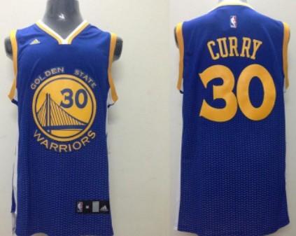 Golden State Warriors #30 Stephen Curry Revolution 30 Swingman 2013 Resonate Blue Jersey