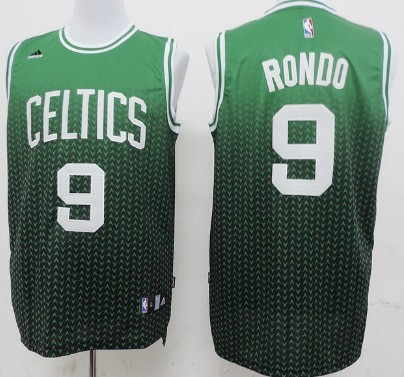 Boston Celtics #9 Rajon Rondo Revolution 30 Swingman 2013 Resonate Green Jersey
