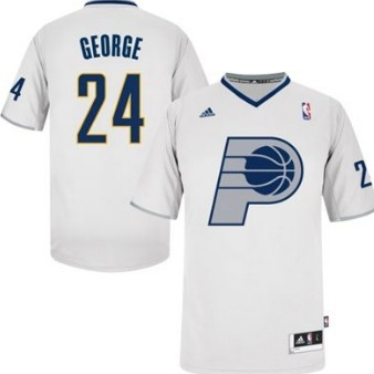 Indiana Pacers #24 Paul George Revolution 30 Swingman 2013 Christmas Day White Jersey