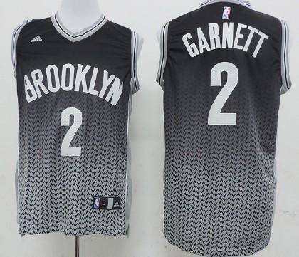 Brooklyn Nets #2 Kevin Garnett Revolution 30 Swingman 2013 Resonate Black Jersey