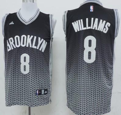 Brooklyn Nets #8 Deron Williams Black Revolution 30 Swingman 2013 Resonate Black Jersey