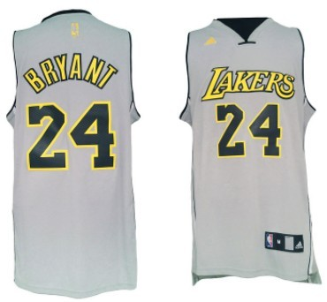 Los Angeles Lakers #24 Kobe Bryant Revolution 30 Swingman 2013 Gray Jersey