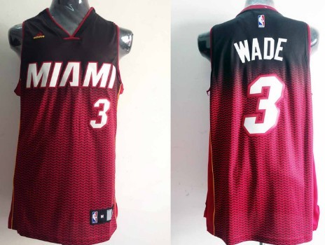 Miami Heat #3 Dwyane Wade Revolution 30 Swingman 2013 Resonate Red Jersey