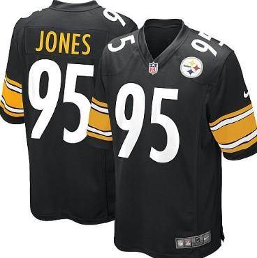 Nike Pittsburgh Steelers #95 Jarvis Jones Black Game Jersey