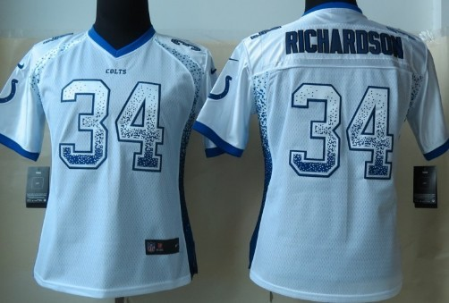 Nike Indianapolis Colts #34 Trent Richardson 2013 Drift Fashion White Womens Jersey