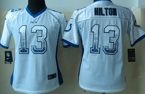 Nike Indianapolis Colts #13 T.Y. Hilton 2013 Drift Fashion White Womens Jersey