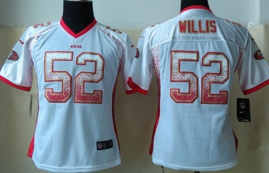 Nike San Francisco 49ers #52 Patrick Willis 2013 Drift Fashion White Womens Jersey