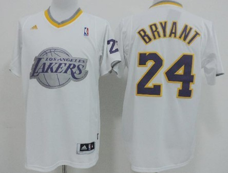 Los Angeles Lakers #24 Kobe Bryant Revolution 30 Swingman 2013 Christmas Day White Jersey