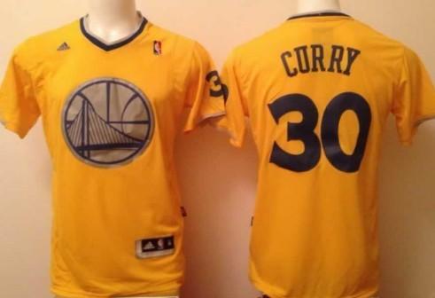 Golden State Warriors #30 Stephen Curry Revolution 30 Swingman 2013 Christmas Day Yellow Jersey