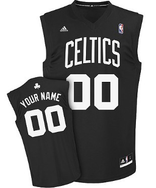Mens Boston Celtics Customized Black Fashion Jersey