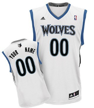 Mens Minnesota Timberwolves Customized White Jersey
