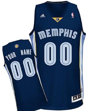 Mens Memphis Grizzlies Customized Navy Blue Jersey