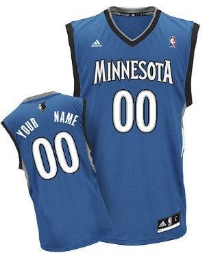 Mens Minnesota Timberwolves Customized Blue Jersey