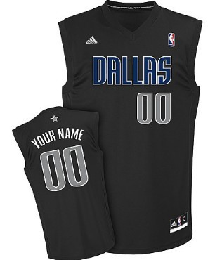 Mens Dallas Mavericks Customized Black Fashion Jersey
