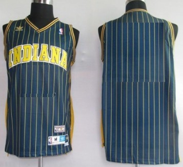 Mens Indiana Pacers Customized Navy Blue Pinstripe Throwback Jersey