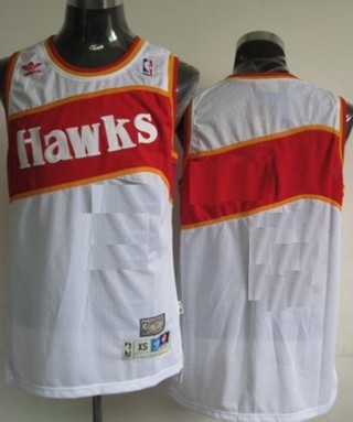 Mens Atlanta Hawks Customized White Throwback Jersey