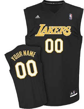 Mens Los Angeles Lakers Customized Black Fashion Jersey
