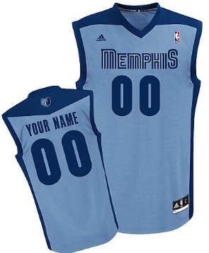 Mens Memphis Grizzlies Customized Light Blue Jersey