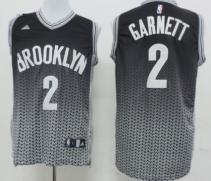 Brooklyn Nets #2 Kevin Garnett Resonate Fashion Black Jersey