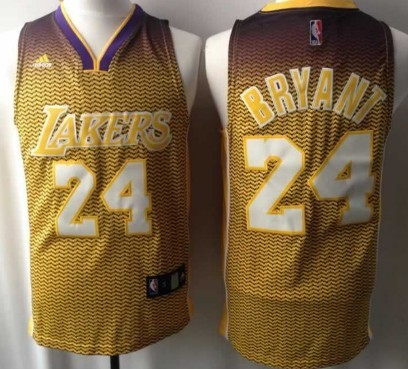 Los Angeles Lakers #24 Kobe Bryant Resonate Fashion Yellow Jersey