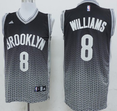 Brooklyn Nets #8 Deron Williams Black Resonate Fashion Black Jersey