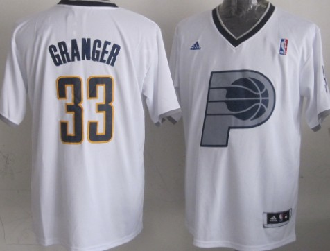 Indiana Pacers #33 Danny Granger Revolution 30 Swingman 2013 Christmas Day White Jersey