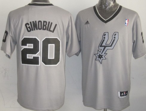 San Antonio Spurs #20 Manu Ginobili Revolution 30 Swingman 2013 Christmas Day Gray Jersey