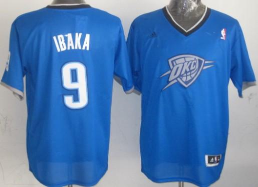 Oklahoma City Thunder #9 Serge Ibaka Revolution 30 Swingman 2013 Christmas Day Blue Jersey