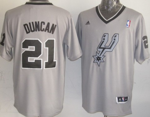 San Antonio Spurs #21 Tim Duncan Revolution 30 Swingman 2013 Christmas Day Gray Jersey