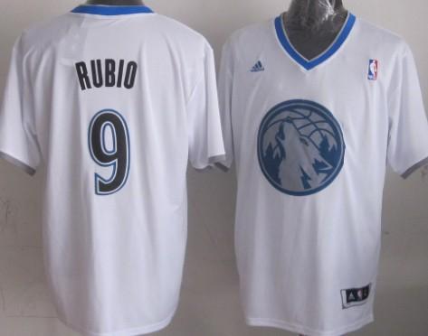 Minnesota Timberwolves #9 Ricky Rubio Revolution 30 Swingman 2013 Christmas Day White Jersey