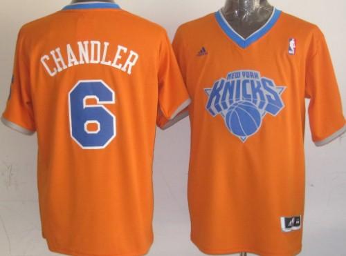 New York Knicks #6 Tyson Chandler Revolution 30 Swingman 2013 Christmas Day Orange Jersey