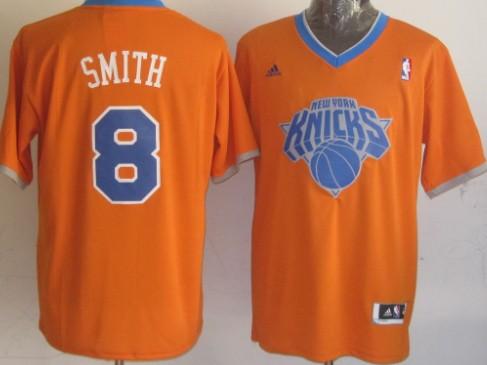 New York Knicks #8 J.R. Smith Revolution 30 Swingman 2013 Christmas Day Orange Jersey