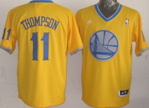 Golden State Warriors #11 Klay Thompson Revolution 30 Swingman 2013 Christmas Day Yellow Jersey