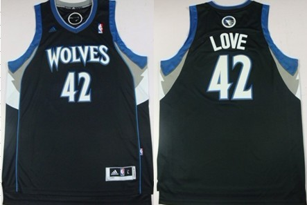 Minnesota Timberwolves #42 Kevin Love Revolution 30 Swingman Black Jersey