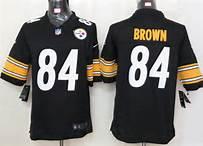 Nike Pittsburgh Steelers 84 Antonio Brown Black Game Jersey