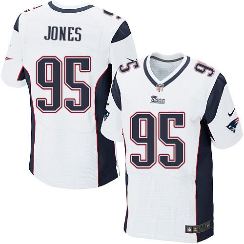 Nike New England patriots 95 Chandler Jones white Game Jersey