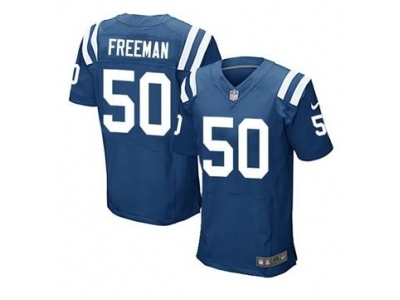 Nike Indianapolis Colts 50 Jerrell Freeman Blue Game Jerseys