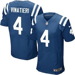 Nike Indianapolis Colts 4 Adam Vinatieri Blue Game Jerseys